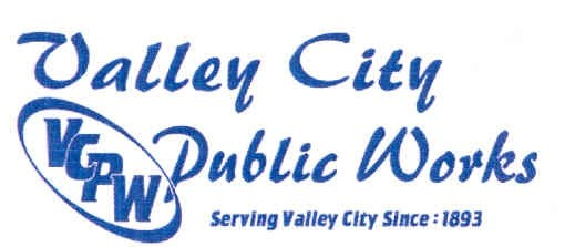 Valley City Public Works. Serving Valley City Since 1883 (Logo)