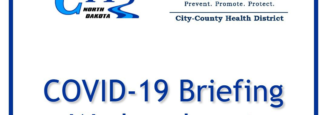 COVID-19 Briefing Wednesday at 5:30 PM with City of Valley City and City County Health District logos