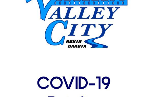 City of Valley City Logo with COVID-19 Briefing below