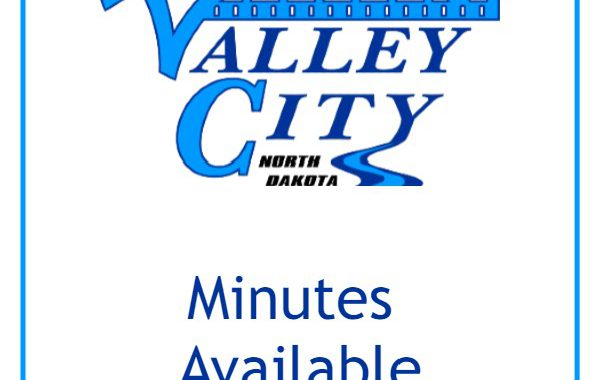 Minutes Available text with City of Valley City Logo above