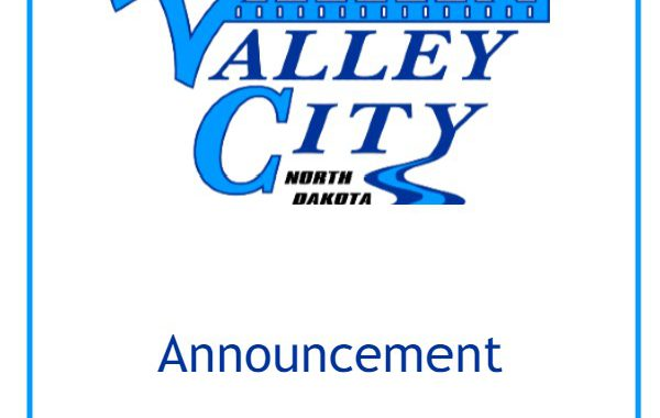 "City of Valley City logo with word ""announcement"""
