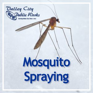 Mosquito with Mosquito Spraying text below